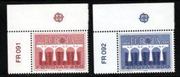 Feroe (Iles) 1984 Yvert 91 / 92 ** TB Coin De Feuille - Féroé (Iles)
