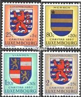Luxemburg 575-578 Postfrisch 1957 Luxemburger Wappen - Luxemburg