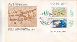 Europa 1983 - Chypre Turc - Lettre De 1983 Avec BF Europa - Oblit Kibris - Expace - Télécommunications - Valeur 75 € - Chypre (Turquie)