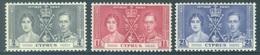 CYPRUS - MNH/**. - 1937 - CORONATION - Yv 131-133 -  Lot 18418 - Chypre (...-1960)