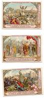 CHROMO Liebig S429 S 429 Histoire De France Année 1163 Louis VII 1099 Urbain II 1214 Philippe Auguste (3 Chromos) - Liebig