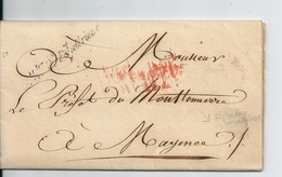 Lettre En Franchise De Paris / Ministre De L'Intérieur , 1814 - 1801-1848: Precursors XIX