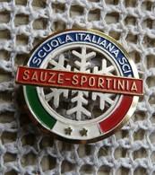 Broche Sport Ski 2 étoiles Italie à Sauze -sportina - Broches
