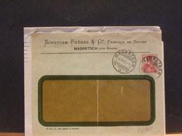 80/965  ENVELOPPE SUISSE PIQUAGE PRIVE   PLI  1911 - Entiers Postaux
