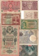 Europe Lot Of 8 Old WWI - WWII Banknotes - Billets