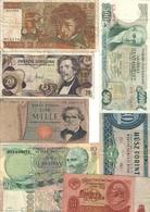 Europe Lot Of 8 Old Banknotes - Billets