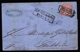 A5730) AD NDP Brief Gleiwitz Bahnpost 27.10.70 N. Stettin BP-Stempel - Norddeutscher Postbezirk