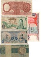 America Lot Of 5 Old Banknotes - Billets