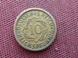 ALLEMAGNE Monnaie De 10 Pfennig 1925 E - [ 3] 1918-1933 : Weimar Republic
