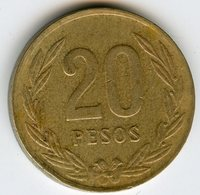 Colombie Colombia 20 Pesos 1987 KM 271 - Colombie