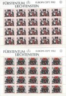 1982 Europa C.E.P.T., Minifogli Liectenstein, Serie Completa Nuova (**) - Europa-CEPT