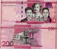 DOMINICAN REP.       200 Pesos Dominicanos      P-191a       2014      UNC - Repubblica Dominicana