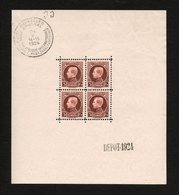 BELGIE 1923 BLOK 1 POSTFRIS / NEUF GOMME ORIGINE FRAICHEUR POSTALE MLH* - Blocks & Sheetlets 1924-1960