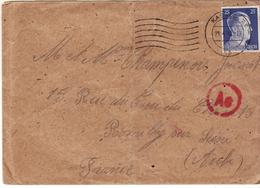 PRISONNIER DE GUERRE 40 45 STALAG LAGER KASSEL VERS ROMILLY CENSURE OKW LETTRE AE - Militaria