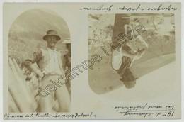 (Abondance) Hameau De Charmy . Photo D'un Maçon Nommé Truelle Et D'un Zingaro Zingueur . Vers 1904 . - Abondance