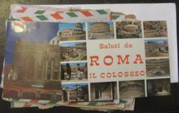 Italie + Vatican - Lot De 17 Enveloppes Timbrées à étudier Dont Recommandés + Gros Affranchissements Vers étranger - Timbres