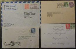 Scandinavie (Danemark, Norvège, Suède, Finlande) - 21 Enveloppes Timbrées Vers étranger à étudier - Timbres