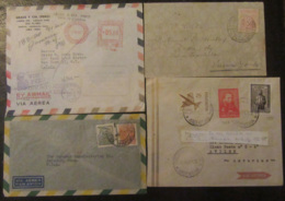 Amérique Du Sud (Pérou, Brésil, Vénézuela, Etc...) - 11 Enveloppes Timbrées Vers étranger, à étudier - Timbres