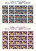 1973 Europa C.E.P.T., Minifoglio Liectenstein, Serie Completa Nuova (**) - Europa-CEPT