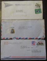 Amérique Centrale (Méxique, Honduras, Etc...) - 8 Enveloppes Timbrées Vers étranger Dont Recommandé, à étudier - Timbres