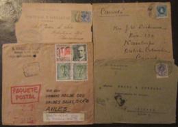Espagne, Portugal (dont Ex-colonies) - Lot De 25 Enveloppes Timbrées (dont Recommandés) à étudier - Timbres