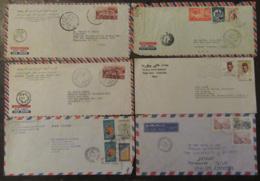 Maghreb, Egypte - Lot De 15 Enveloppes Timbrées Vers étranger à étudier - Timbres