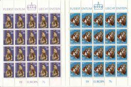 1976 Europa C.E.P.T., Minifoglio Liectenstein, Serie Completa Nuova (**) - Europa-CEPT