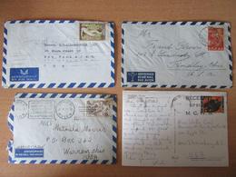 Grèce, Chypre - Lot De 12 Enveloppes Timbrées Vers étranger, à étudier - Timbres