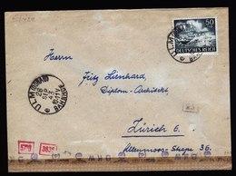 A5731) DR Brief Ulm 28.09.43 Zürich EF Mi.842 Zensur - Briefe U. Dokumente
