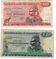 Zimbabwe Lot Set 10 & 20 Dollars 1994 - Zimbabwe
