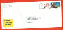 United States 1994. The Envelope Passed Mail. Airmail. - Airplanes