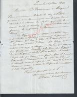 MARCOPHILIE LETTRE DE 1840 ECRITE DE LORIENT POUR Mr DESVARANNES FOURNISEUR EN BOIS MARINE ANGERS : - Manuscrits