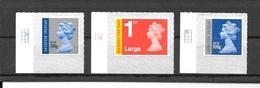 GB New Special Definitives - 04/12 -  SET Of 3 Singles With Grid Markings - 1952-.... (Elizabeth II)