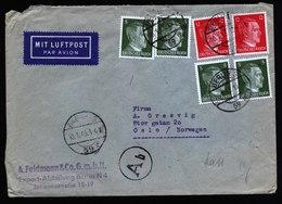 A5732) DR Luftpostbrief Berlin 10.1.45 N. Oslo / Norwegen - Briefe U. Dokumente