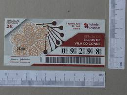 PORTUGAL - 2018 -LOTARIA POPULAR -  31 -   2 SCANS  - (Nº26717) - Lotterielose