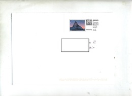 Lettre  Sur Timbre Personnalisé Mont Cervin - Marcophilie