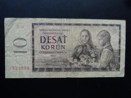 TCHÉCOSLOVAQUIE : 10 KORUN  1960  P 88a   B+ - Tchécoslovaquie
