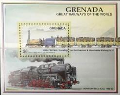 Grenada 1991-92 Railways Of The World S/S - Grenada (1974-...)