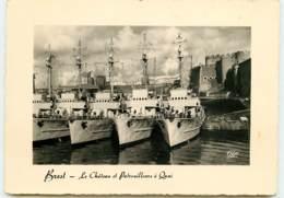 BREST Les Patrouilleurs à Quai FRCR91255 - Brest