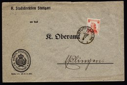 A5733) AD Württemberg Brief Stuttgart 19.1.17 EF Mi.D242 - Wuerttemberg