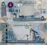 BAHRAIN       5 Dinars       P-New       L. 2006 (2018)       UNC   [SPARK Element - Tactile Ellipses] - Bahreïn