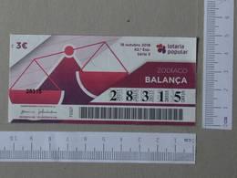 PORTUGAL - 2018 -LOTARIA POPULAR -  42 -   2 SCANS  - (Nº26728) - Billets De Loterie
