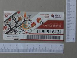 PORTUGAL - 2018 -LOTARIA POPULAR -  44 -   2 SCANS  - (Nº26730) - Billets De Loterie