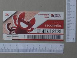 PORTUGAL - 2018 -LOTARIA POPULAR -  46 -   2 SCANS  - (Nº26732) - Billets De Loterie