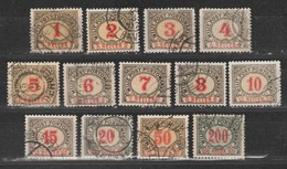 Bosnie-Herzegovine  1904  Taxe N°1 à 13  Oblitéré. Série Compléte - Bosnie-Herzegovine