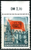 A12-48-4) DDR - Mi 344 Oberrand - ** Postfrisch (C) - 6Pf    Karl Marx - [6] République Démocratique