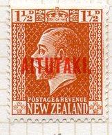 OCEANIE - AITUTAKI - (Dépendance Néo-Zélandaise) - 1918-19 - N° 17 - 1 1/2 P. Orange - (Nelle Zélande) - Aitutaki