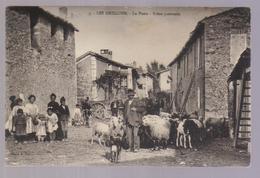 Cpa Du 04- LES GRILLONS- La Poste -Scène Pastorale ( Berger & Son Troupeau De Moutons) - Francia