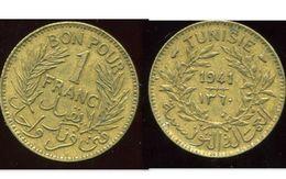 TUNISIE 1 Franc 1941 - Tunisie