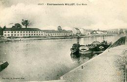 70 - GRAY - Etablissements Millot. Quai Mavia - Gray